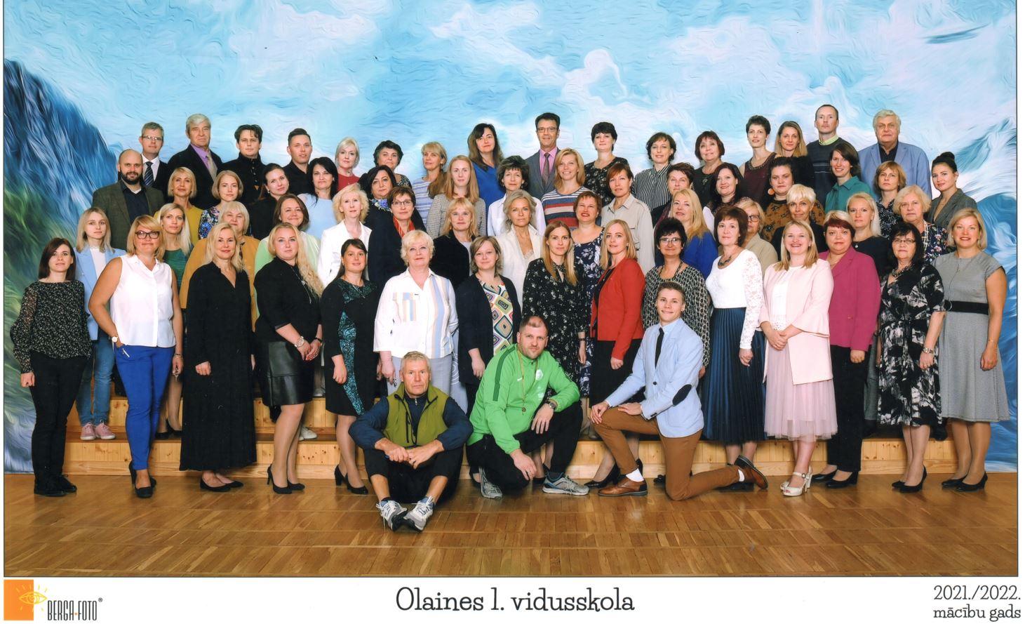 Olaines 1. vidusskolas pedagogu foto